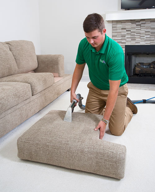 Chem-Dry professional upholstery cleaning on couch